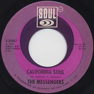 Messengers / Window Shopping c/w California Soul back
