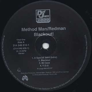 Method Man & Redman / Blackout! label