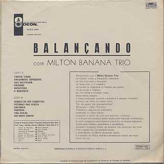 Milton Banana Trio / Balancando back