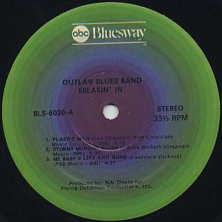 Outlaw Blues Band / Breaking In label