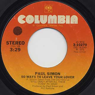 Paul Simon / 50 Ways To Leave Your Lover