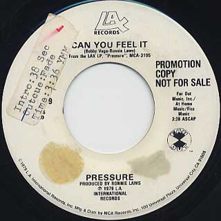 Pressure / Can You Feel It(45) back