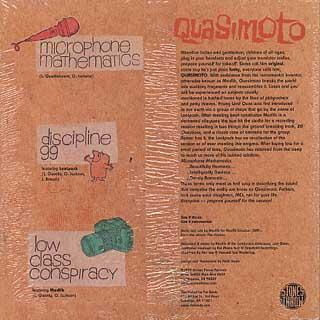 Quasimoto / Microphone Mathematics back