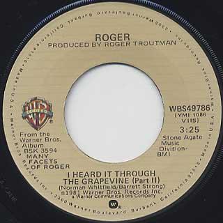 Roger / I Heard It Through The Grapevine back