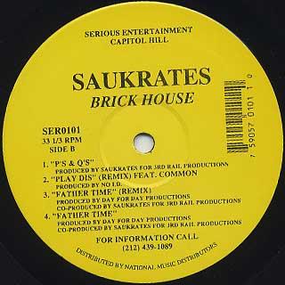 Saukrates / Brick House EP back