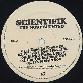 Scientifik / The Most Blunted label