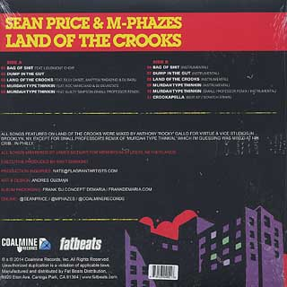 Sean Price & M-Phazes / Land Of The Crooks back