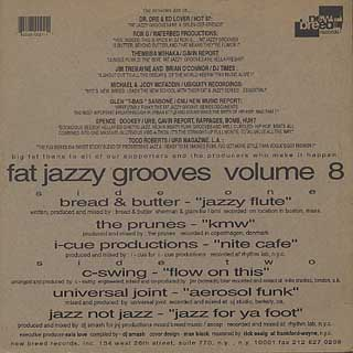 V.A. / Fat Jazzy Grooves 8 back