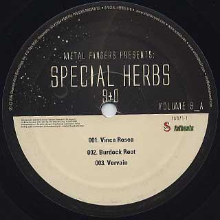 Metal Fingers / Special Herb 9+0 label