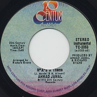 Ahmad Jamal / M*A*S*H Theme