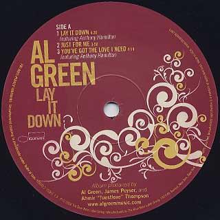 Al Green / Lay It Down label