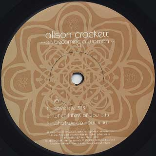 Alison Crockett / On Becoming A Woman label
