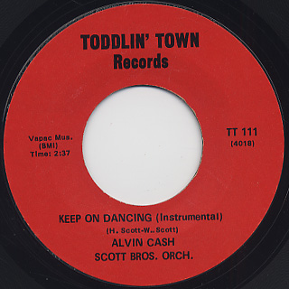 Alvin Cash / Keep On Dancing back