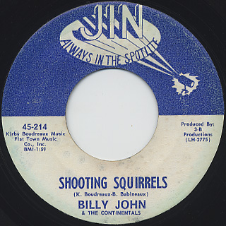 Billy John & The Continentals / Slap It To Me back