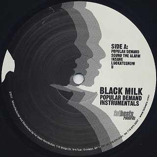 Black Milk / Popular Demand Instrumentals label