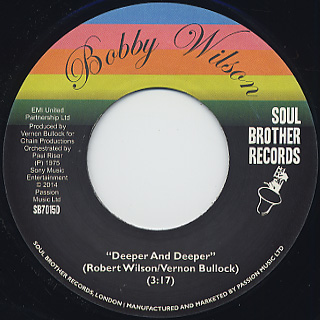 Bobby Wilson / Don't Shut Me Out c/w Deeper And Deeper back
