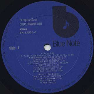 Chico Hamilton / Peregrinations label