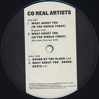 Co Real Artists / What About You label