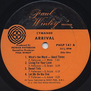 Cymande / Arrival label