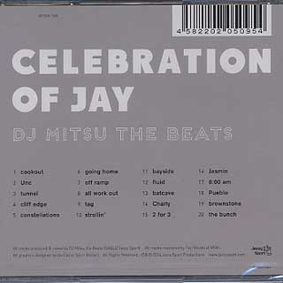 DJ Mitsu The Beats / Celebration Of JAY(CD) back