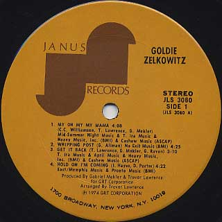 Goldie Zelkowitz / S.T. label