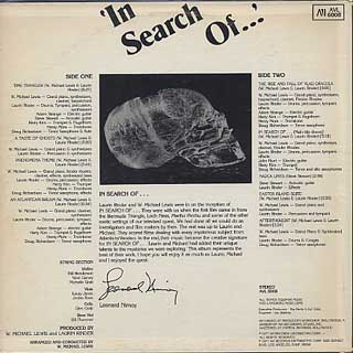 In Search Of Orchestra / In Search Of... back
