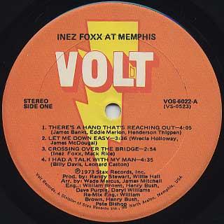 Inez Foxx / At Memphis label