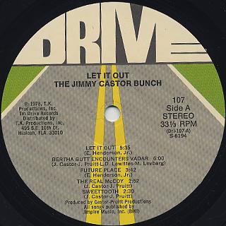Jimmy Castor Bunch / Let It Out label