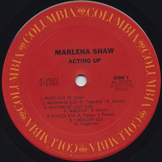 Marlena Shaw / Acting Up label
