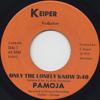 Pamoja / Only The Lonely Know(Keiper) back