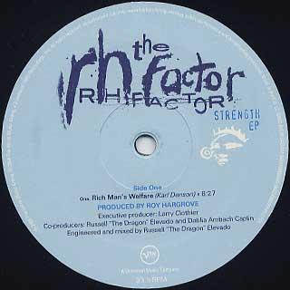 RH Factor / Strength EP label
