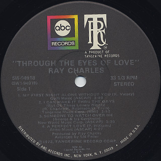 Ray Charles / Through The Eyes Of Love label