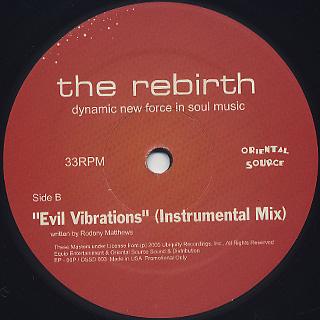 Rebirth / Evil Vibrations (Saturday Mix) label