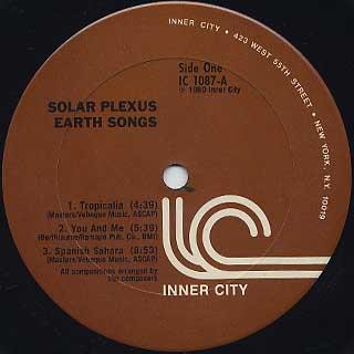 Solar Plexus / Earth Songs label