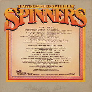 Spinners / Happiness Is Being With The Spinners back