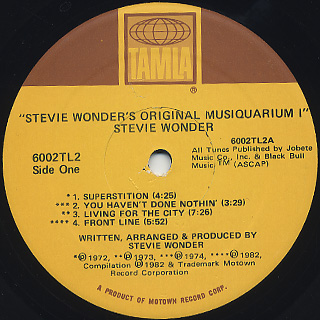 Stevie Wonder / Original Musiquarium I label