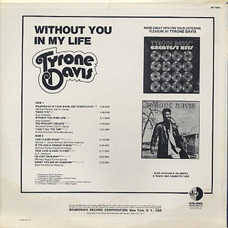 Tyron Davis / Without You In My Life back