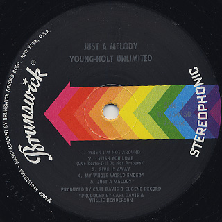 Young-Holt Unlimited / Just A Melody label