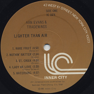 Arn Evans & Tradewinds / Lighter Than Air label