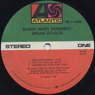 Buddy Miles Regiment / Sneak Attack label