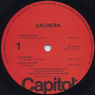 Caldera / S.T. label