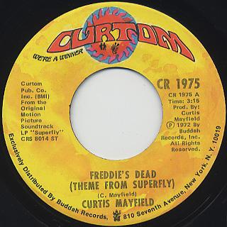 Curtis Mayfield / Freddie's Dead c/w Underground