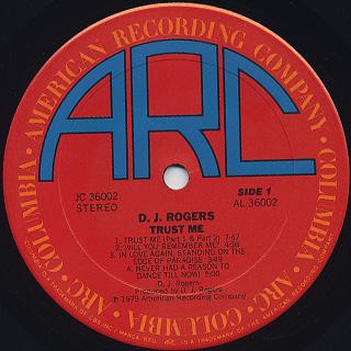 D.J. Rogers / Trust Me label