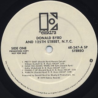 Donald Byrd and 125th Street, N.Y.C. / S.T. label