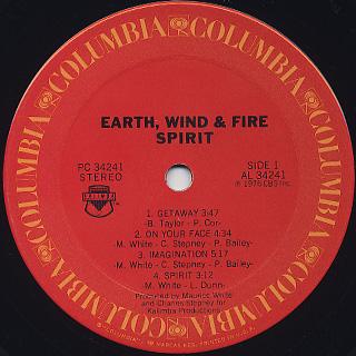 Earth, Wind & Fire / Spirit label