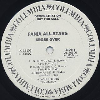 Fania All Stars / Cross Over label