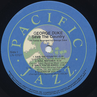 George Duke / Save The Country label