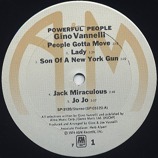 Gino Vannelli / Powerful People label