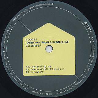 Harry Wolfman & Skinny Love / Celebre EP label