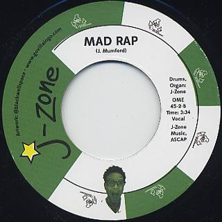J-Zone / Stick Up c/w Mad Rap back